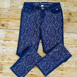 Justice Premium Bling Jeweled Jeans Size 12